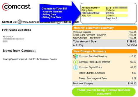 Comcast Bill Template Bing Images Comcast Bill Template