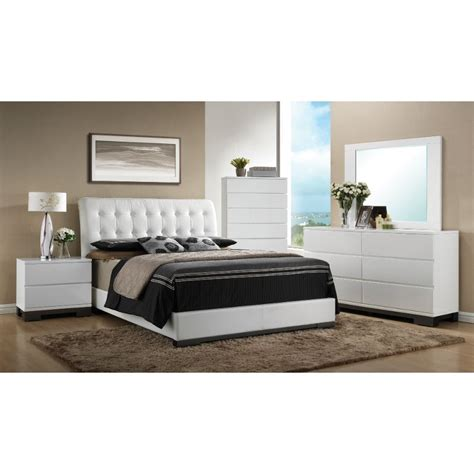 white contemporary  piece queen bedroom set avery rc willey furniture store