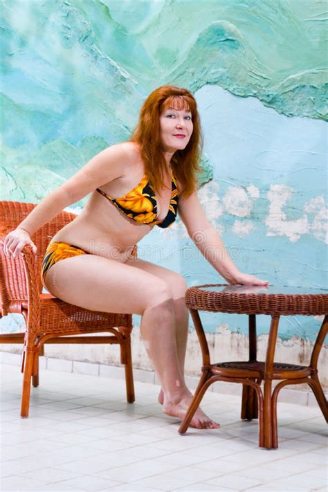 portrait pretty in bathing suit stock photo image