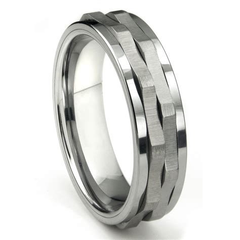 Tungsten Ring Wedding by Tungsten Carbide Spinning Wedding Band Ring