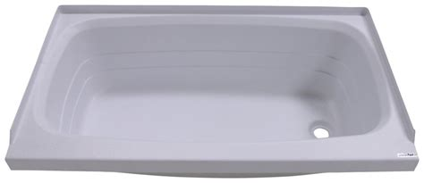 better bath 24 quot x 40 quot rv bath tub right drain white
