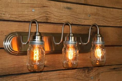 mason jar bathroom light original glass recycling ideas creating hanging ls and