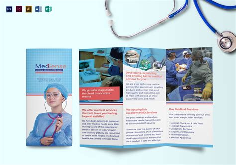 Tri Fold Medical Brochure Design Template In Psd Word Publisher Illustrator Indesign Healthcare Brochure Templates Free