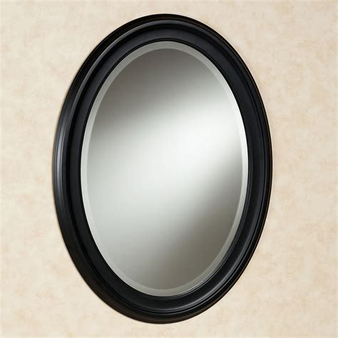 Black Oval Bathroom Mirror | loree black oval wall mirror