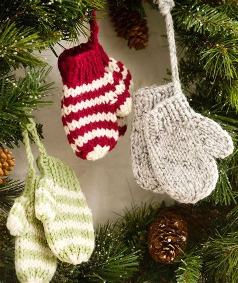 free knit christmas tree ornament patterns kleine