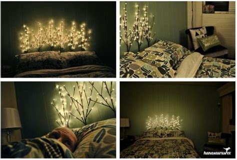 Light Up Headboard by Diy Lighted Branch Headboard I Think I Would Use This As