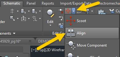aligning components autocad electrical imaginit