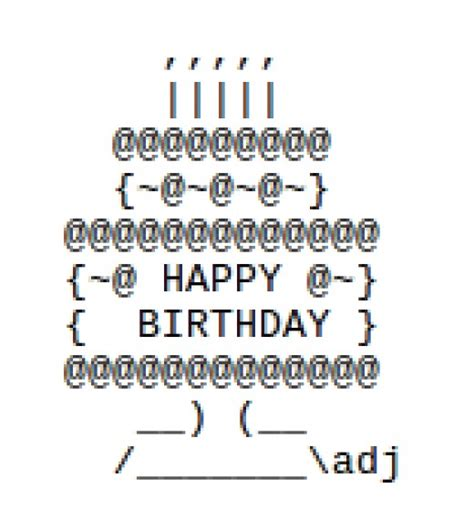 happy birthday wishes text design happy birthday ascii text art hubpages