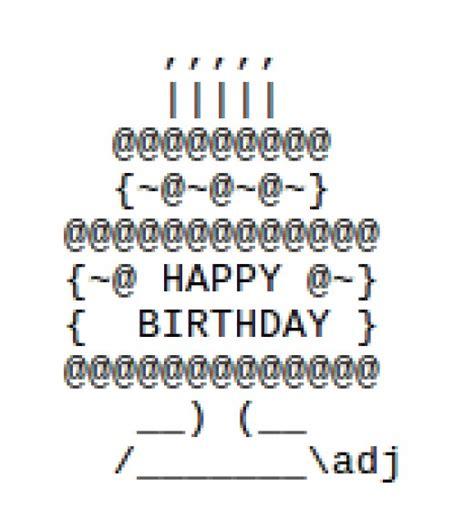 happy birthday design text sms happy birthday ascii text art hubpages
