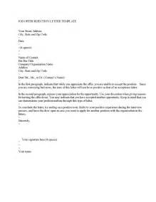 Template Job Offer Rejection