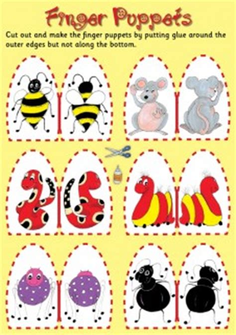 8 best images of bee finger puppet printable printable