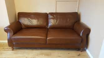 next sofas next large three seater leather sofa brown 163 100 00