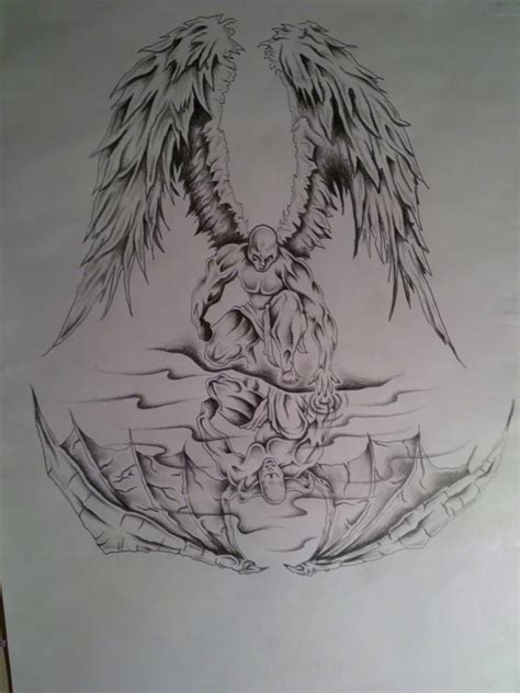 angel demon tattoo reflection www pixshark images