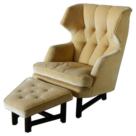 wingback chair ottoman janus wing chair and ottoman by edward wormley for dunbar
