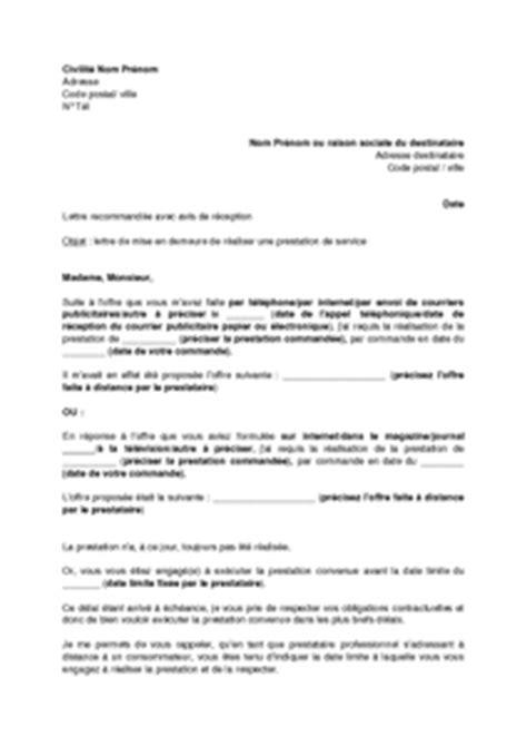 Exemple De Lettre De Mise En Demeure Pour Non Restitution De Caution Lettre Mise En Demeure Realisation Travaux Document