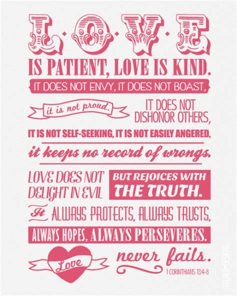 Printable Version Of Love Is Patient | hemmed in by love love 101