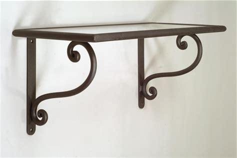mensole in ferro battuto mensola rettangolare in ferro battuto lavorato a mano