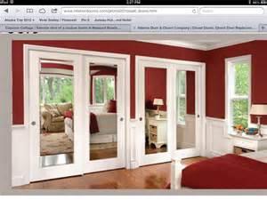Mirror Closet Doors For Bedrooms Master Bedroom Closet Mirror Doors Home Ideas Pinterest