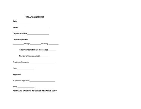 vacation request template request form template pictures to pin on