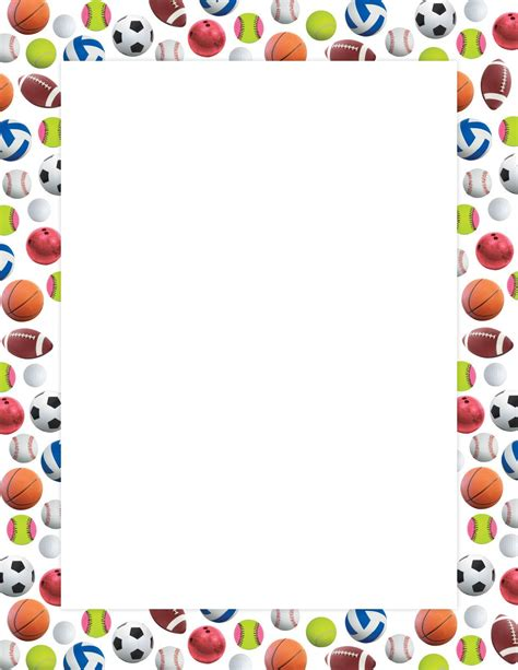 Decorate Your Home For Christmas by Sports Ball Border Poster