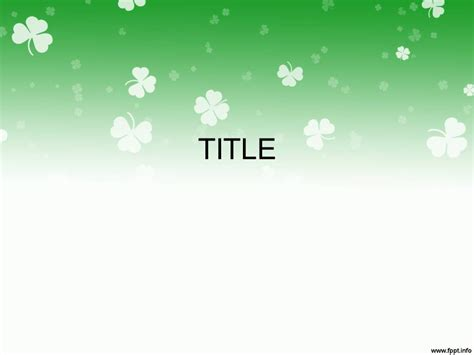 Free Download St Patrick S Day Powerpoint Templates St Powerpoint