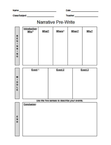 template for narrative writing how to make a narrative essay outline