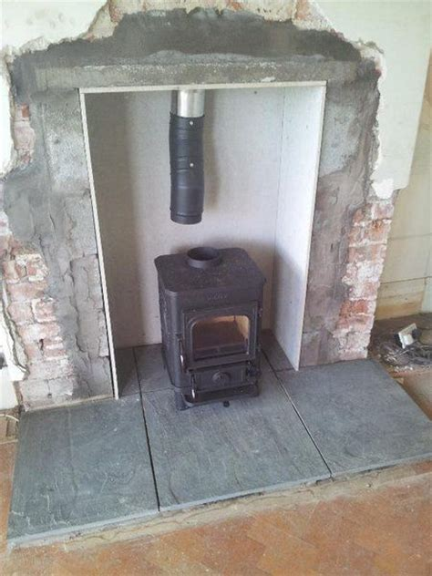 1 Inch Thick Slate Floor Hearth - lining a fireplace great results the stove fitter s manual