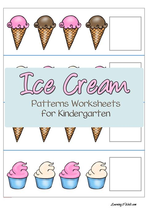 pattern activities to do at home free ice cream patterns worksheets for kindergarten free