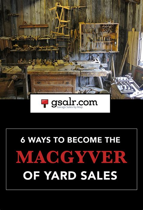 Garage Sale Money Box by 6 Ways To Become The Macgyver Of Yard Sales Garage Sale