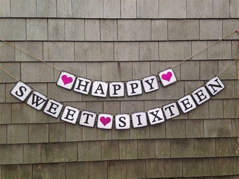 sweet 16 banner template sweet sixteen banner sweet sixteen birthday decor sweet