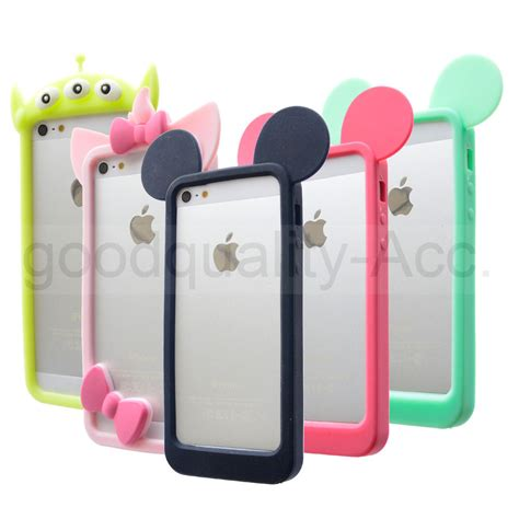 Ear Micky Softcase For Iphone 4 4s 5 5s 5e Samsung Note 3 mickey mouse bunny ears bumper silicone for apple iphone 5 5s 4 4s 6 6