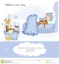 welcome new baby boy stock vector image of animals