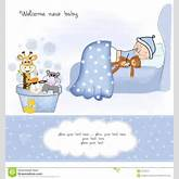 Welcome New Baby Boy Royalty Free Stock Image - Image: 20560076