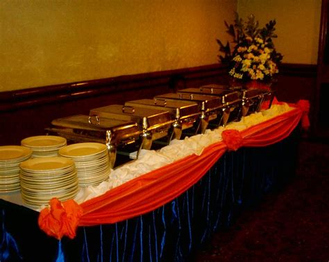 How To Set Up A Buffet Table Buffet Tables With Motif Buffet Table Setting Arrangement