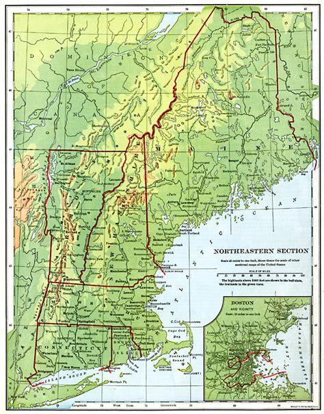 northeastern cus map the northeastern united states