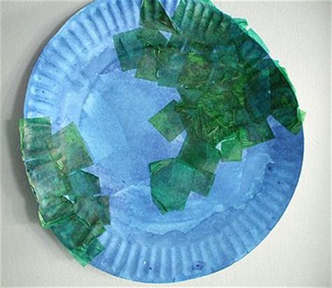 earth crafts for preschool crafts for earth day paper plate craft
