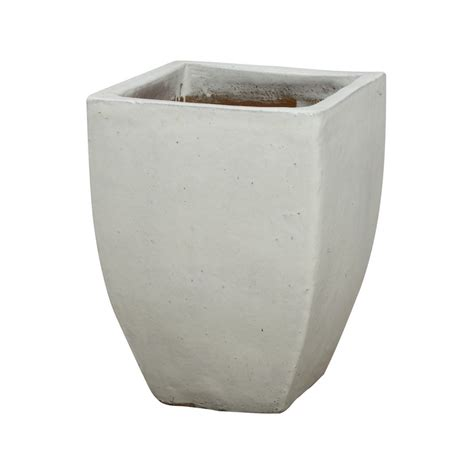 White Square Planter Pots by Emissary Square Planter White Large
