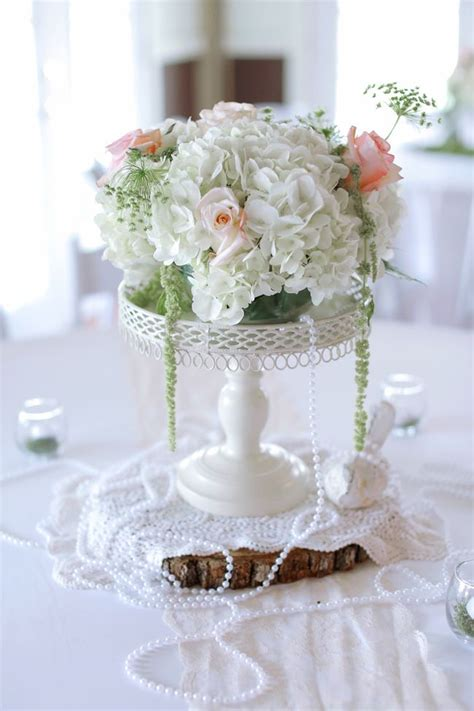 easy diy wedding flower centerpieces vintage inspired and hydrangea centerpiece with pearls