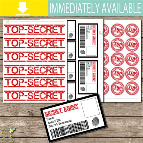 secret cards free instant kit id cards top secret labels