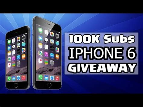 will fortnite be available on iphone 6 quot apple iphone 6 giveaway quot 100 000 subscriber special