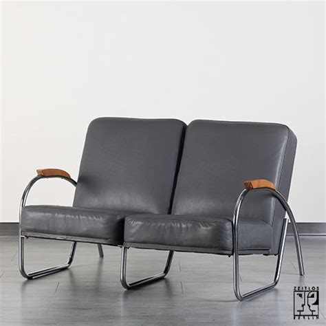 couch tube two seating tubular steel streamline couch by mauser werke