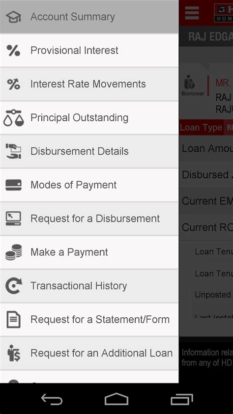 hdfc housing loan statement hdfc home loans android apps on google play