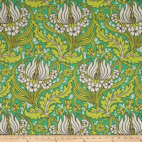 amy butler home decor fabric amy butler temple home decor sateen tulips emerald