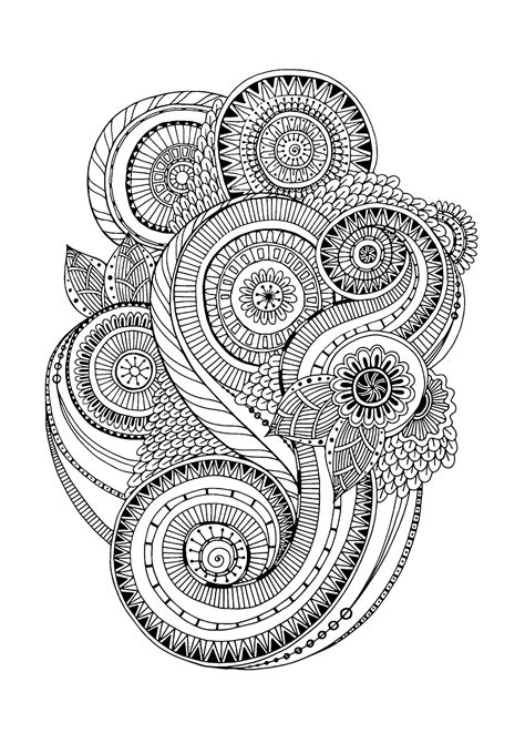 anti stress colouring book for adults zen anti stress coloring page abstract pattern