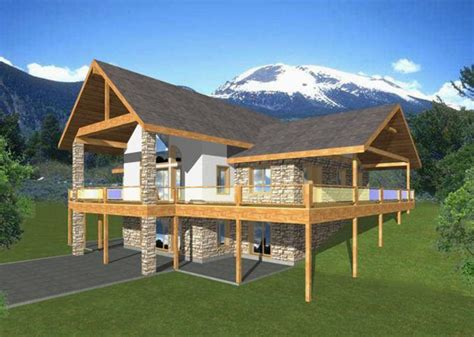 Lakefront House Plans Sloping Lot fourplans great vacation homes builder magazine