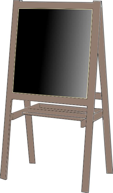 Easel Papan Tulis White Board easel clip at clker vector clip royalty free domain
