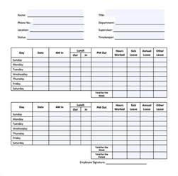 Timesheet Template by 22 Simple Timesheet Templates Free Sle Exle