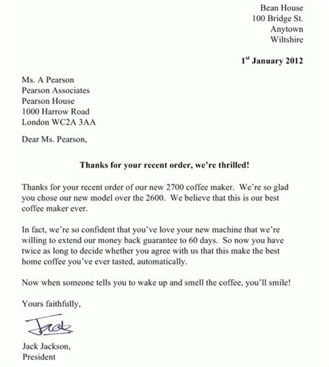 lettere esempio come scrivere una lettera commerciale in inglese