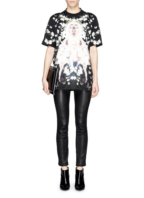 Givenchy Baby Breath Madonna givenchy madonna baby s breath floral print t shirt lyst
