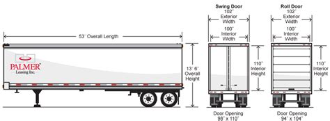 floor length of typical 3 trailer swing doors trailer 2018 united trailers xle 58sa30 s